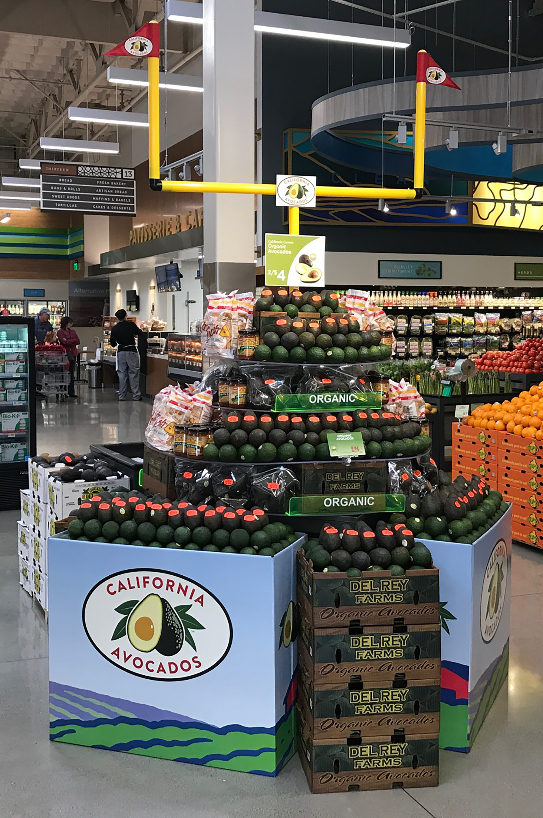Gelson S Markets And Mollie Stone S Generate Big Game Excitement With California Avocados California Avocado Commission