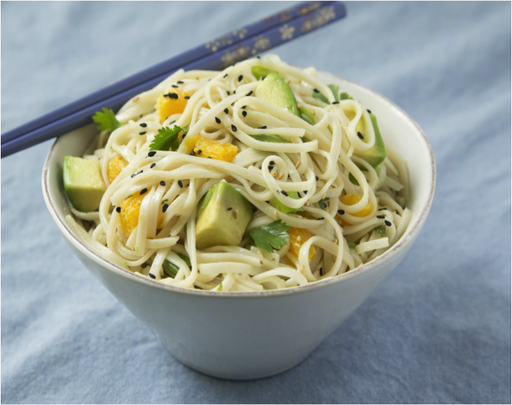 Michelle Dudash prepared Asian Brown Rice Noodle Salad with California Avocados on a TV segment that earned 10,000 impressions.