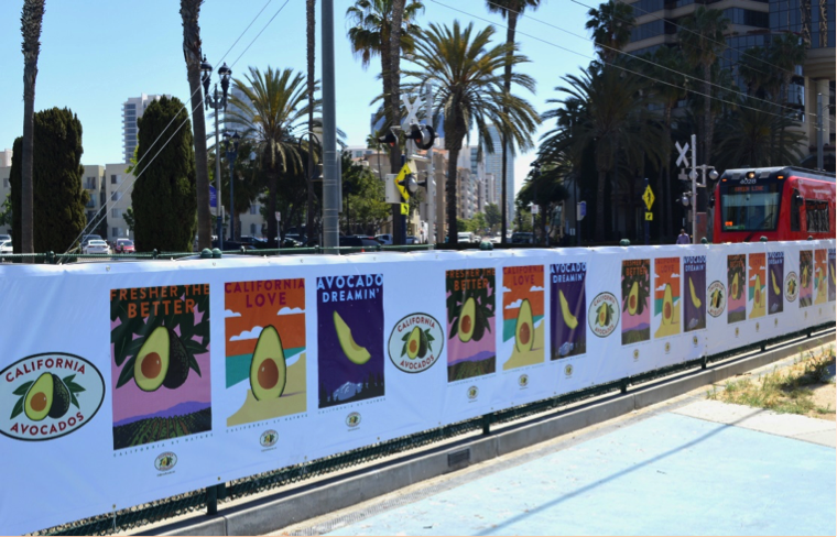 CA-avocado-wild-posting-San-Diego-Fence-Barricade