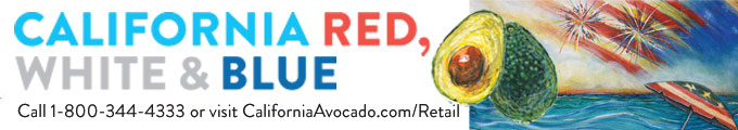 The California Red, White and Blue ads, including digital banners like this, will run from May through early July as part of the American Summer Holidays promotion.