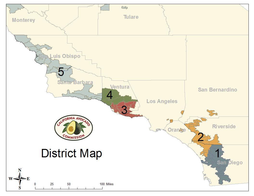 District Map California Avocado Commission