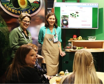 CAC recorded Katie Ferraro's avocado demonstration and shared it with SRDs so they can use the video at in-store demonstrations.