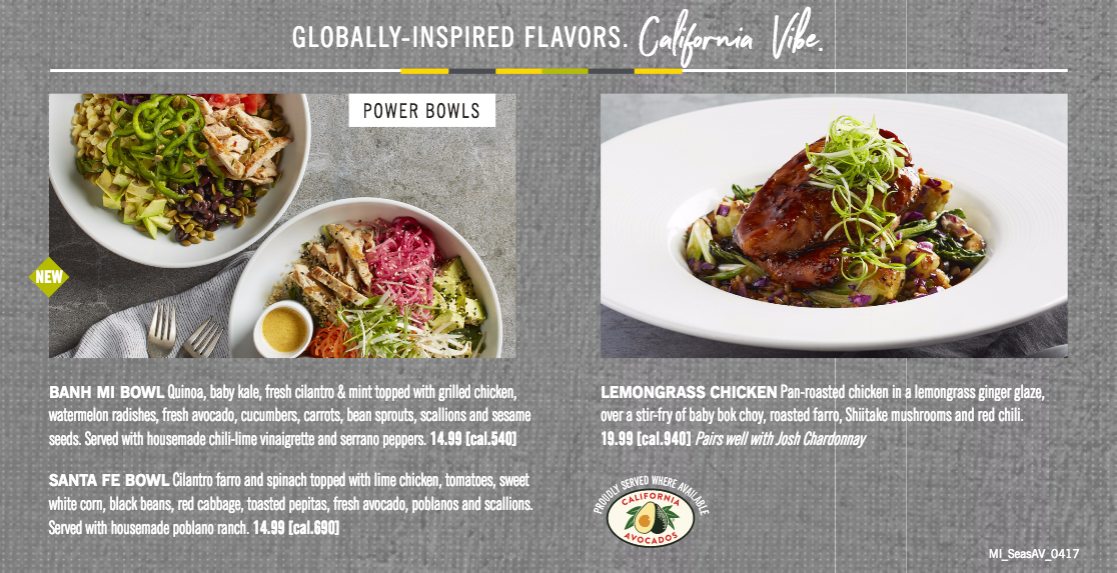 California Pizza Kitchen Introduces Power Bowls with Fresh ...
