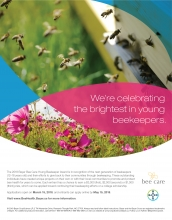 Bayer is hosting a nationwide Bayer Bee Care Young Beekeeper Award for beekeepers between the ages of 12 - 18.