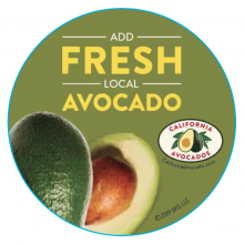 Server buttons encouraged Denny's patrons to add fresh, local avocados to any item on the menu.