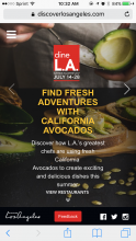 CAC's chef ambassadors and their unique California avocado creations were featured in videos on @discoverlosangeles.com.