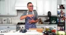 Chef Brian Malarkey hosted the CAC season opener virtual cooking class.