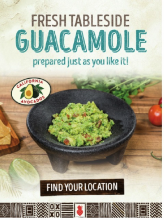 This eNewsletter promoted customizable California avocado tableside guacamole was at Real Mex Restaurants: Chevy's, El Torito, Acapulco Restaurant & Cantina and Who Song & Larry's.