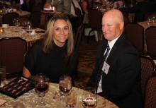 Sheryl Salazar, Assistant Sales Manager for Albertsons-Vons and Lee Groon of Albertsons-Vons joined Commission members at their table.