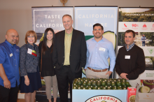 Commission staff with representatives from Grocery Outlet and Calavo.