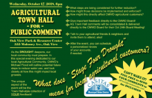 Casitas Municipal Water District Hosts Town Hall October 17.