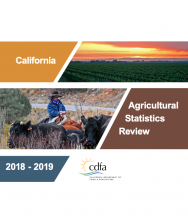 The California Agricultural Statistics Review 2018-19 provides a statistical overview of agriculture in the state.