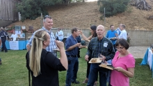 Morro Bay avocado growers Arby and Jeannie Kitzman join CAC and Del Rey representatives at the Taste of the Grove event.