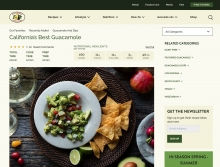 The optimized recipe section features appealing photography and makes it easy for visitors to find similar recipes that may be of interest to them.