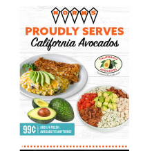 The subject line of NORM's enewsletter, which is sent to loyalty club members, was: Fresh California Avocado Makes Everything Better, Add to Your Meal Today!