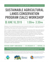 free Sustainable Agricultural Lands Conservation Program (SALC) workshop