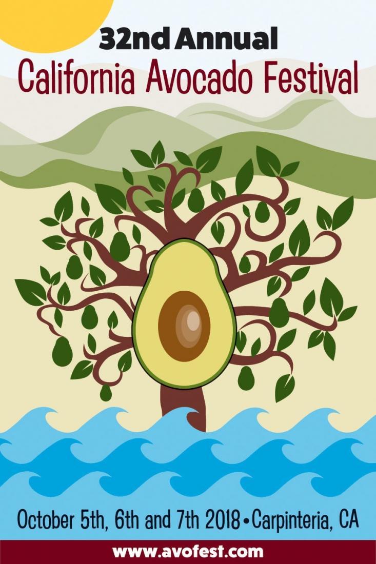 The 32nd Annual California Avocado Festival will take place in Carpinteria October 5 - 7, 2018.