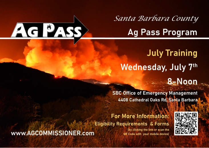 In order to obtain an Ag Pass, the interested party must complete a training session that focuses on emergency procedures and their role as an Ag Pass cardholder.