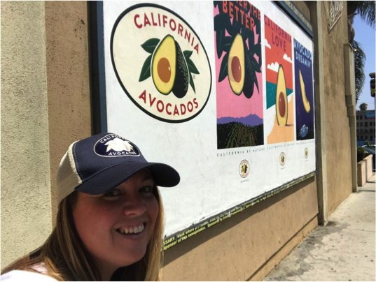 April Aymami, CAC's Industry Affairs Director, took a selfie with the wild posting near the Hollywood Bowl.