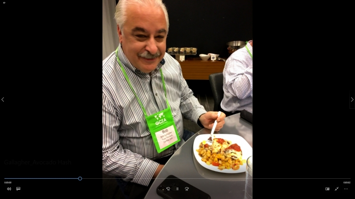 Bob Gallagher of Tony Roma's enjoys the Southwest California Avocado & Potato Hash with California Avocado Chile Cream Sauce.