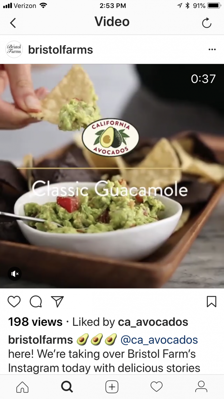 The Commission took over Bristol Farms' Instagram platform, sharing mouth-watering California avocado recipes perfect for Cinco de Mayo entertaining.