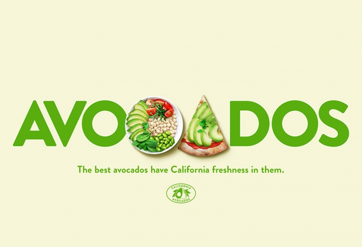 "The new consumer advertising campaign ""the best avocados have California in them"" featured a variety of ads and was extended to fit trade advertising as well"