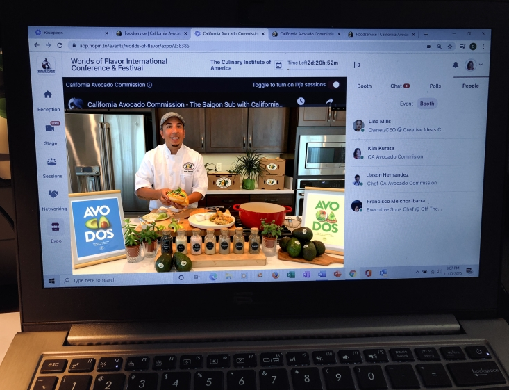 Pre-recorded video with Chef Jason Hernandez discussing flavor pairings and adding a California twist to a global dish.