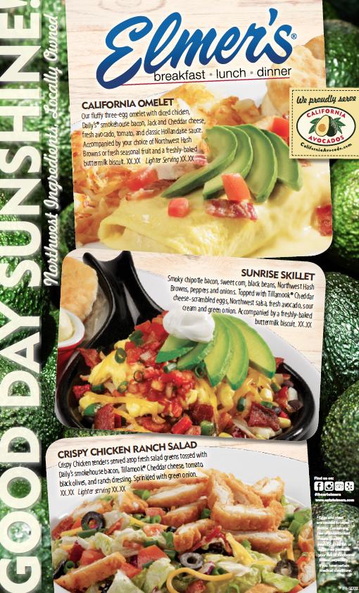 Elmer's showcased two California avocado menu items at 26 locations in California, Idaho and Oregon.