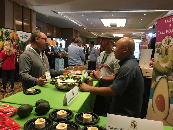 Dave Cruz and Alexei Rudolf discussed the California avocado crop with the Flagship Restaurant Group.