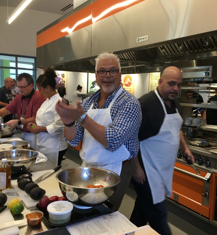 Matt Harding, senior vice president culinary and menu innovation, gearing up for the Market Basket challenge.