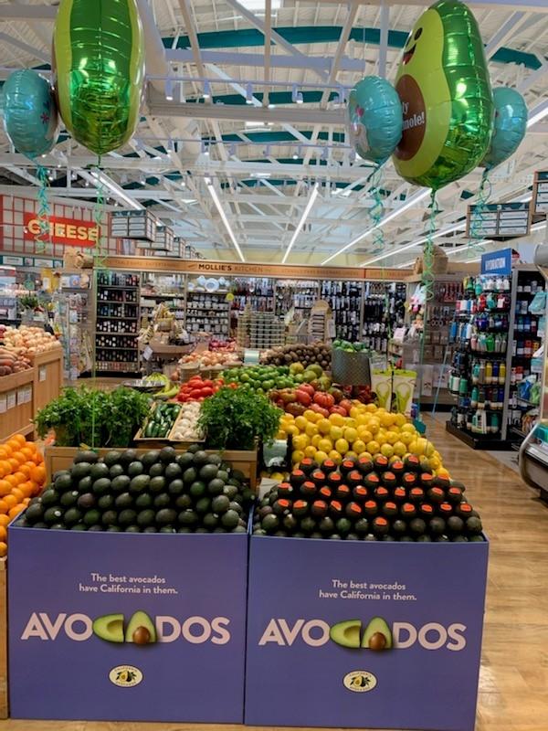Mollie Stone's locations in the San Francisco Bay area hosted Cinco de Mayo sales contests featuring California avocados.