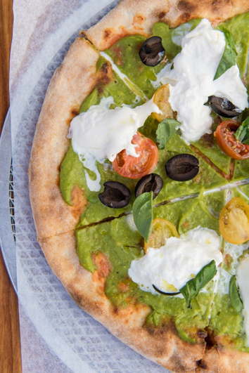 Pizza Avocado Alla Mediterranean created specifically by Ambrogio 15 and sold exclusively at Little Italy Food Hall throughout June.