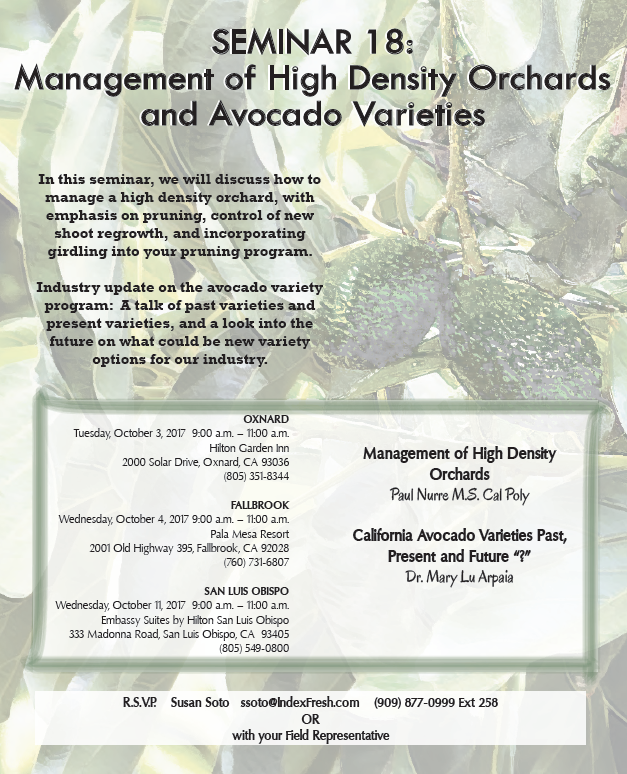 Index Fresh High Density Grove Management Seminar