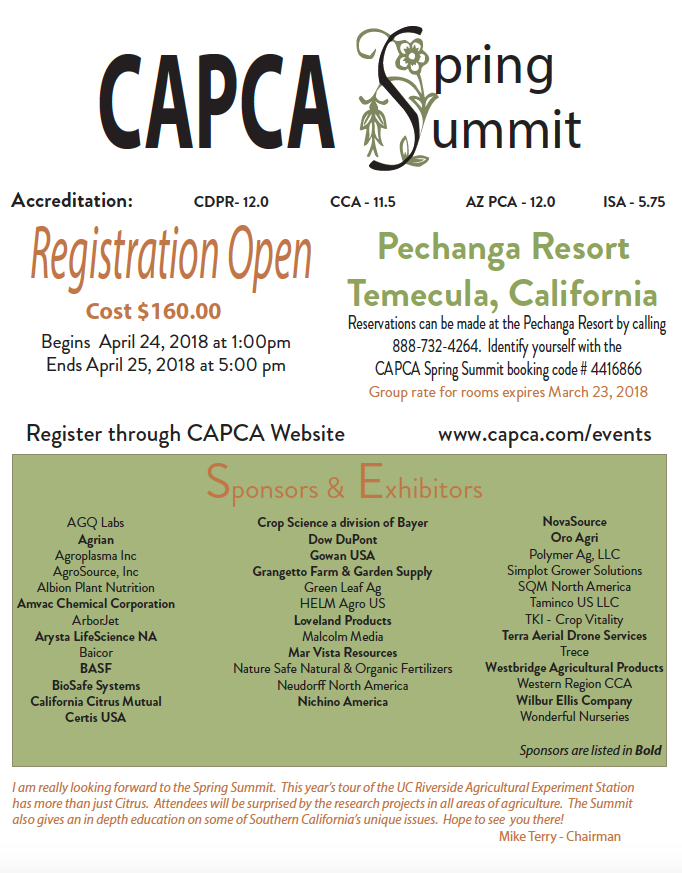 CAPCA 2018 Spring Summit
