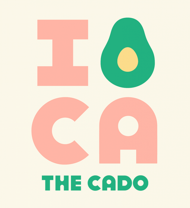 The CADO features quintessential California-centric imagery of the Golden State fruit.