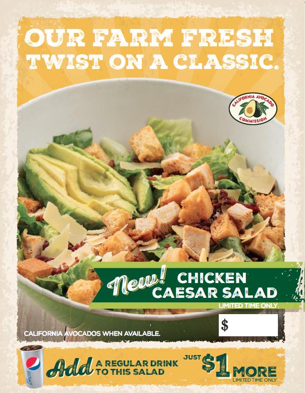 The popular Farmer Boys chain added a new Avocado Chicken Caesar Salad to its summer LTO menu.