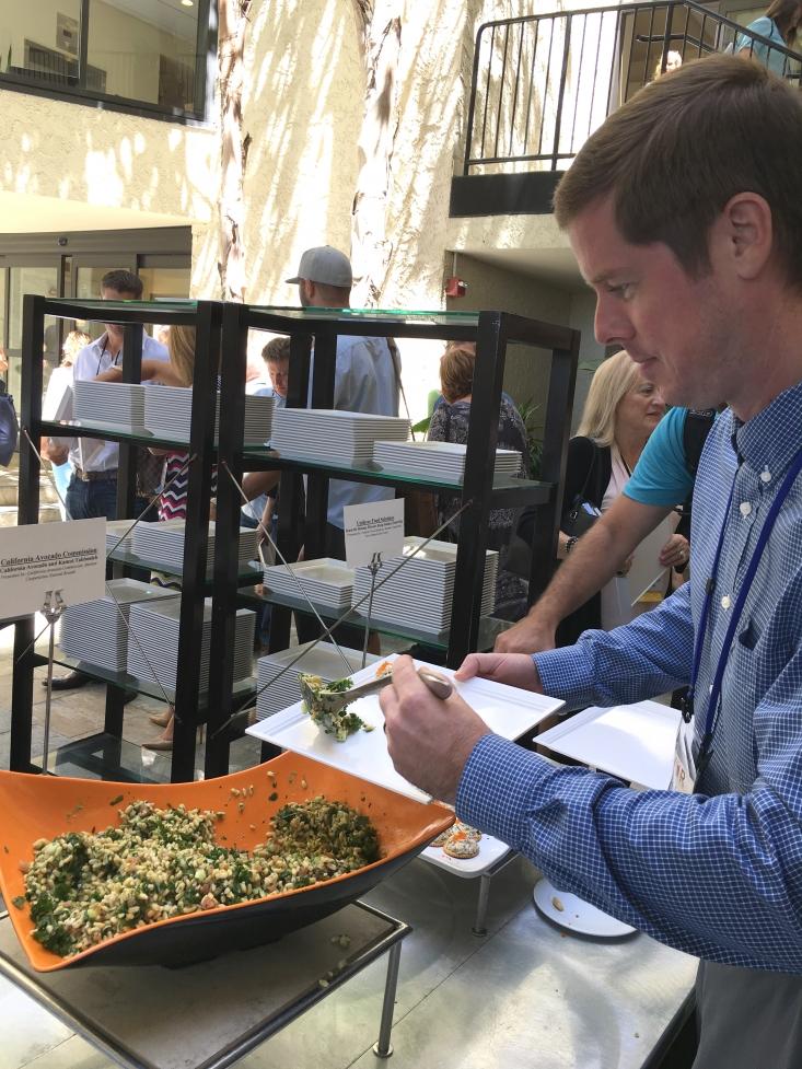 Sodexo's Brett Cunningham serves up some California Avocado Tabbouleh salad.