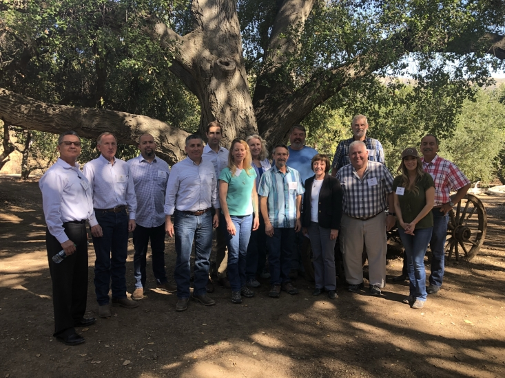 Secretary Ross joined the Commission on a tour of California avocado groves damaged by the Thomas Fire.
