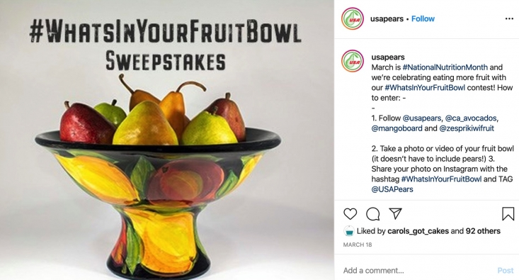 By encouraging consumers to craft fruit bowls and share their photos on social media the Commission raised awareness about the availability of California avocados prior to the start of the peak California avocado season.