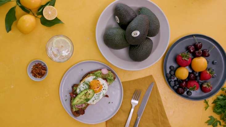 The :30 Tastemade TV spot featured a California Avocados Olive Tapenade Breakfast Tartine.